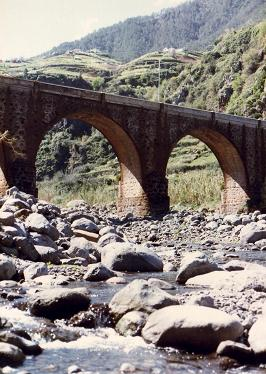 Old bridge in Faial, Madeira, I think a new one has been built
