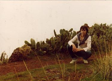 Picture of myself surrounded by cactus