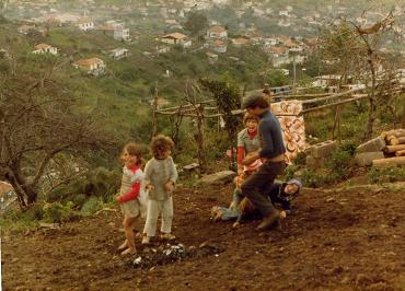 Children playing in Madeira