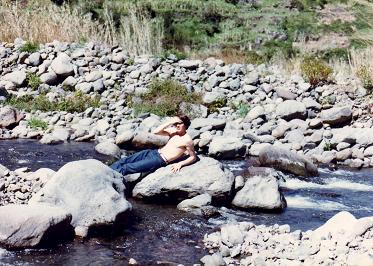 A picture of myself by the creek, Faial Madeira
