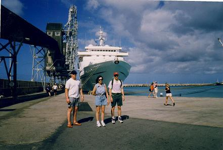 Standing in the port of Bridgetown, Barbados