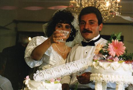 Rui Cruz and Isabelle Pessoa on their wedding day in 1992 (Tocha)