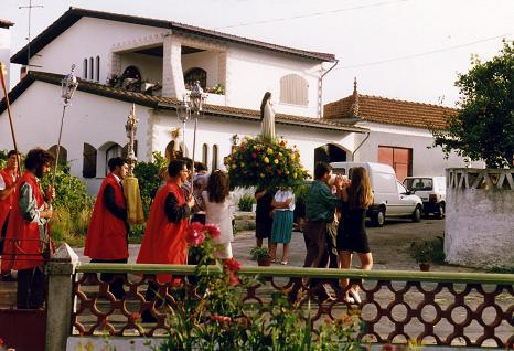 Celebrating the saint of the village Santa Teresinha