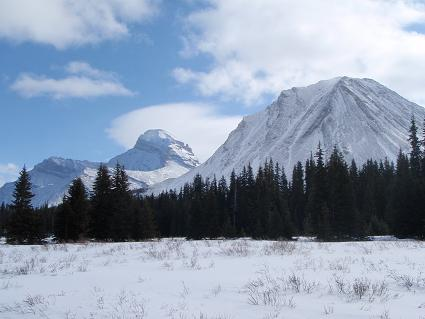 Pictures of the Mountains surrounding Red Deer Lakes