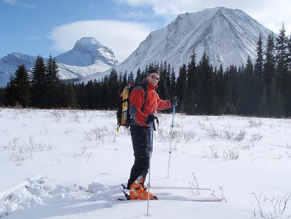 Myself standing near or on top of the Red Deer Lakes