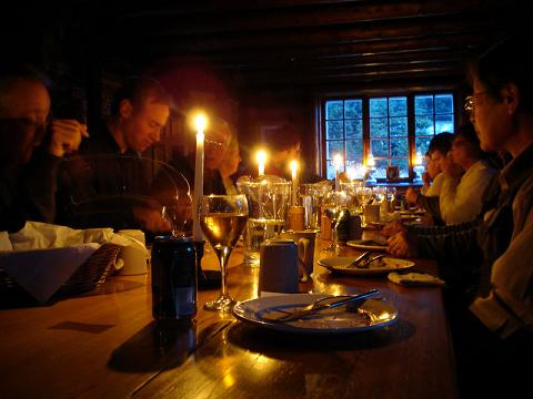 Supper time at Skoki Lodge